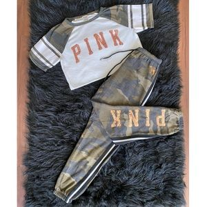 PINK camo lounge set
